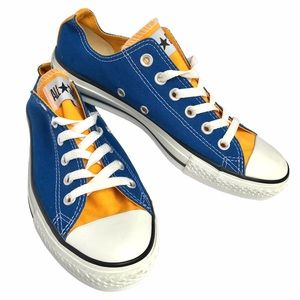 Converse All Stars blue and yellow colour block
